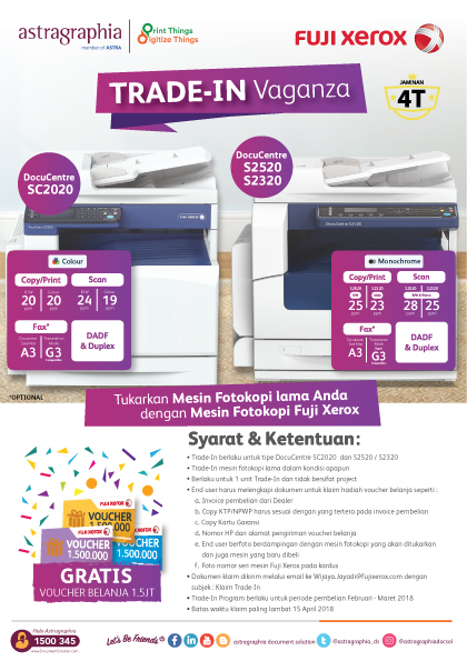 Fuji Xerox Trade-in Vaganza